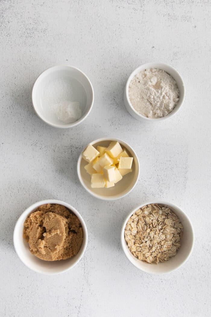 ingredients for the brown sugar streusel