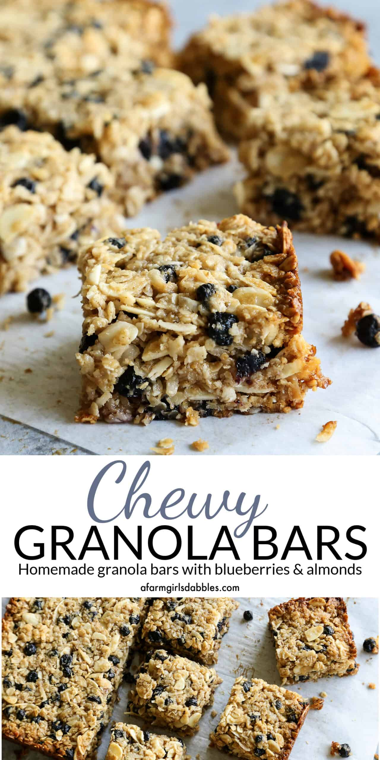 Pinterest image for Chewy Granola Bars