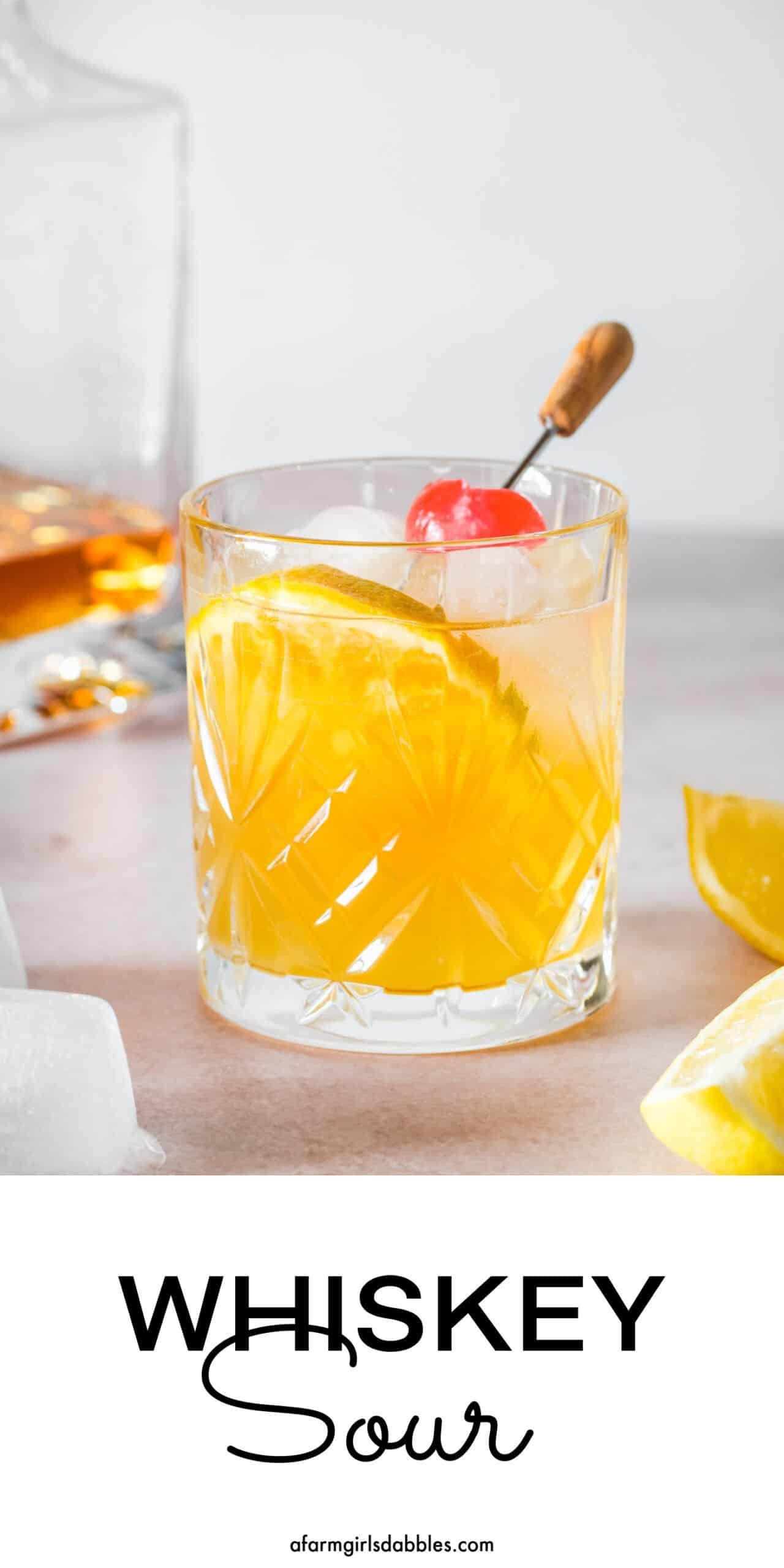Pinterest image for whiskey sour