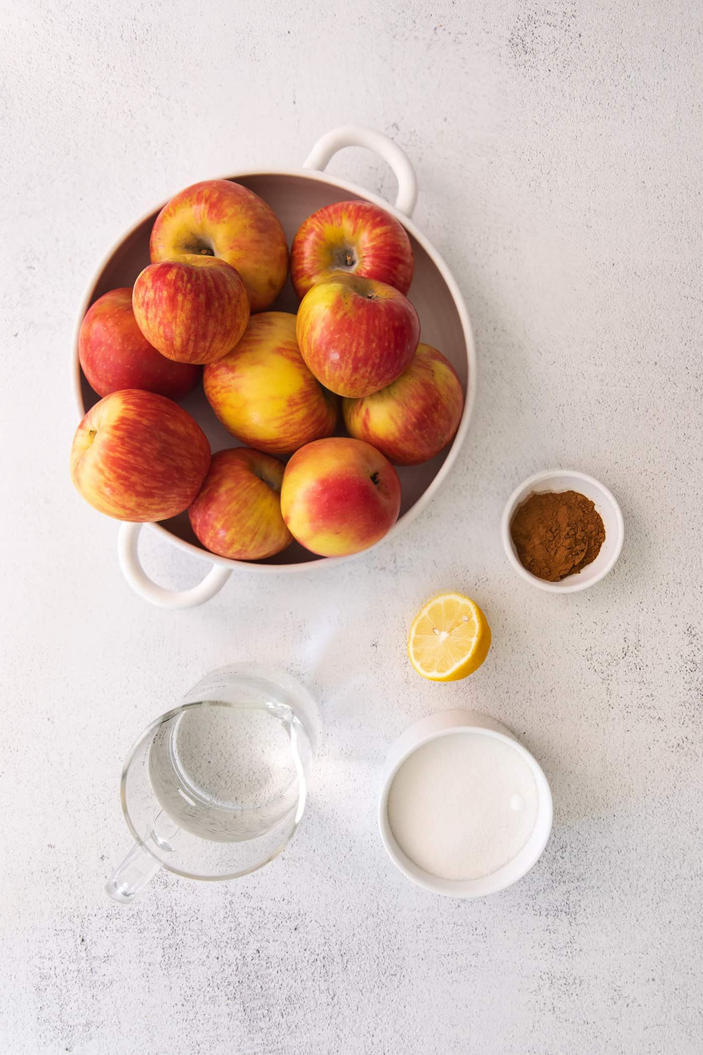 ingredients for homemade applesauce